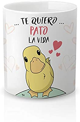 Yujuuu!   Taza cerámica Original Amor. Resistente 100% al ...
