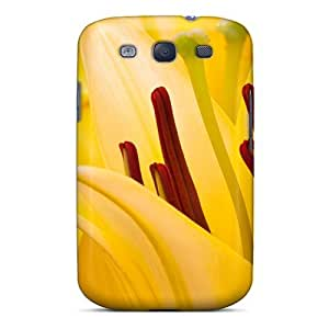 Anti-scratch And Shatterproof Oriental Lilies Phone Case For Galaxy S3/ High Quality Tpu Case