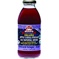 BRAGG Apple Cider Vinegar Concord Grape & Acai Drink, 1 x 473 ml