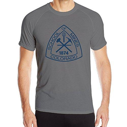 [PTR Men's Quick Dry Colorado School Of Mines Gym Short Sleeve Size XL DeepHeather] (Mangle Costume Ideas)