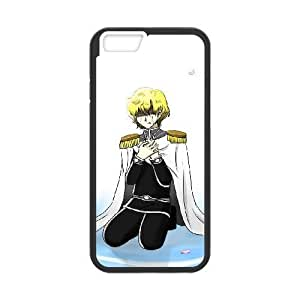 Generic hard plastic Legend of the Galactic Heroes Anime Cell Phone Case for iPhone 6 Plus 6S Plus 5.5 inch Black B1236