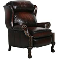 Danbury ll Leather Wing Recliner Color: Stetson Bordeaux
