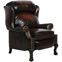 Danbury ll Leather Wing Recliner Color: Stetson Bordeaux