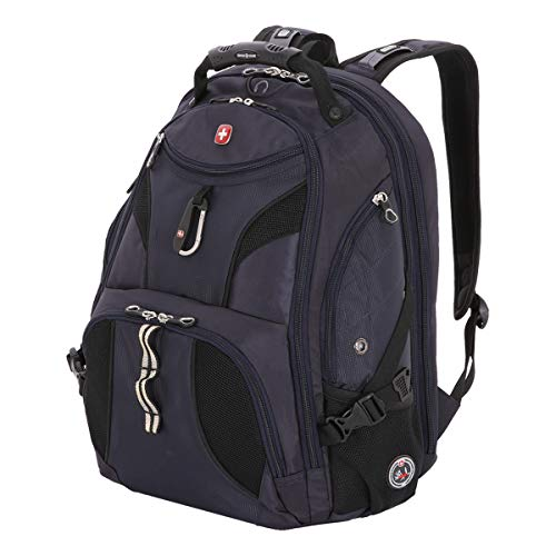 SwissGear SA1923 Noir Satin TSA Friendly ScanSmart Laptop Backpack - Fits Most 15 Inch Laptops and Tablets ()