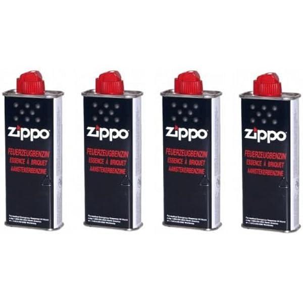 4 pieza Zippo Original Mechero Gasolina 125 ml: Amazon.es: Hogar