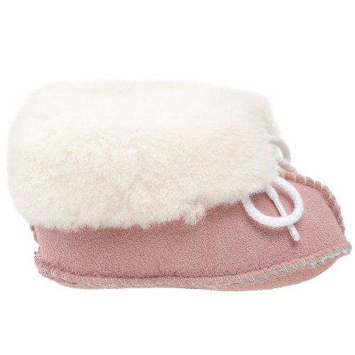 Minnetonka Sheepskin Bootie, Mocasines para Bebés Rosa (Pink)