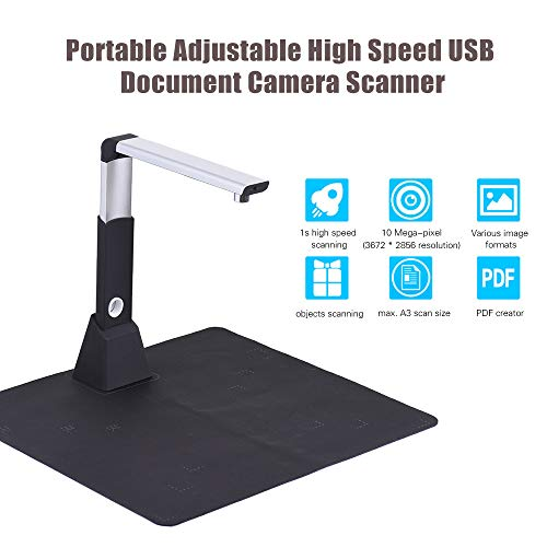 10 Megapixel Document Scanner A3 A4 Book Scanner With OCR Function High Resolution Camera Scanner Documents For Office