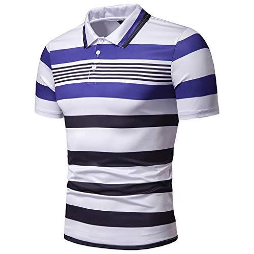 KINGOLDON Letter Printed Tops Fashion Men's Casual Slim Short Sleeve T Shirt Blouse Outdoor t Shirt Fitness t -