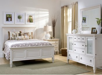 Somerset Alabaster 4Pc Queen Bedroom Set