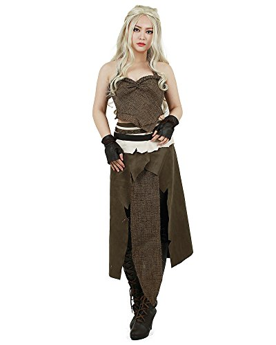 Miccostumes Women's A Song of Ice And Fire Daenerys Targaryen Brown Cosplay Costume (women s)