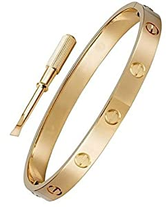 Official Celebrity Screw Love Bangle Bracelet with Screwdriver High Fashion Luxury for Women