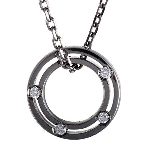 Damiani Gold Necklace - Damiani D.Side Brad Pitt 18K White Gold and Black Rhodium Diamond Band Pendant Necklace
