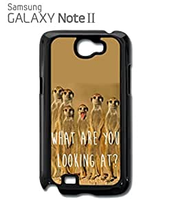 Meerkat What Are You Looking At Mobile Cell Phone Case Samsung Note 2 White