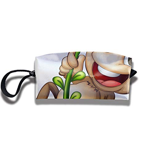 EElason777 Naughty Monkey Travel Makeup Cosmetic Pouch Makeup Travel Bag Purse for Women Or Girls ()