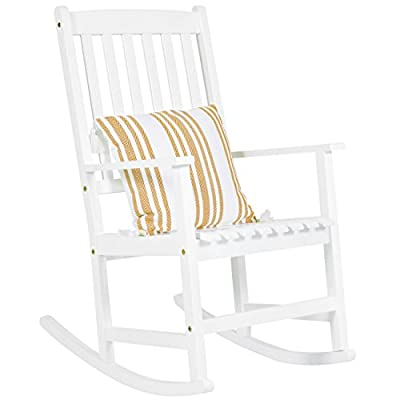 Best Choice Products Indoor Outdoor Traditional Wooden Rocking Chair Furniture with Slatted Seat and Backrest