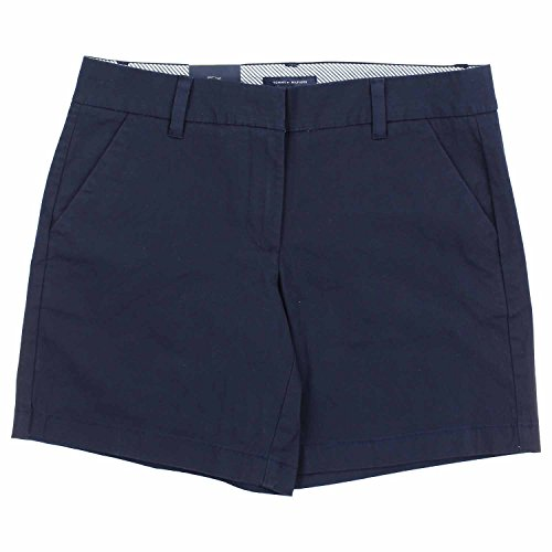 (Tommy Hilfiger Womens Size 10 Flat Front Shorts, Midnight)