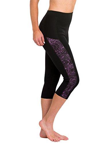 Delfin Womens Heat Max Neoprene Anti Cellulite Fitness Capris, Mystic Purple, - Chart Wetsuit Measurement