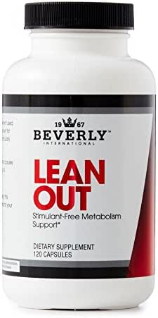 Beverly International Lean Out 120 Capsules. Fat Burner for Healthy Weight Loss with lipotropics. Choline, carnitine, Chromium and More. Burn Fat. Control Sugar. Get leaner. Ideal for Keto.