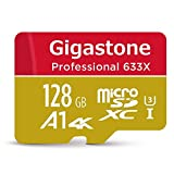 Gigastone 128GB MicroSD Card UHS-I U3 Class 10 SDXC Memory Card with SD Adapter High Speed 4K Ultra HD Video Android Camera Canon Dashcam DJI Drone GoPro Nikon Nintendo Samsung Tablet
