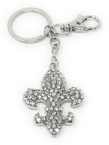 - Value Arts Bejeweled Fleur De Lis Key Chain, 5 Inches Long