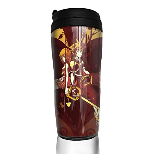 Angela R Mathews Kingdom Hearts-Kairi and Sora 12Ounce(350ml) Food Grade ABS Anime Thermos Coffee Cup with Sealed Lid Coffee Mug Tea Cup