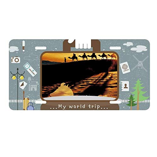 - DIYthinker Desert Along The Way to The Silk Road Map Camel License Plate Car Decoration Tin Sign Travel