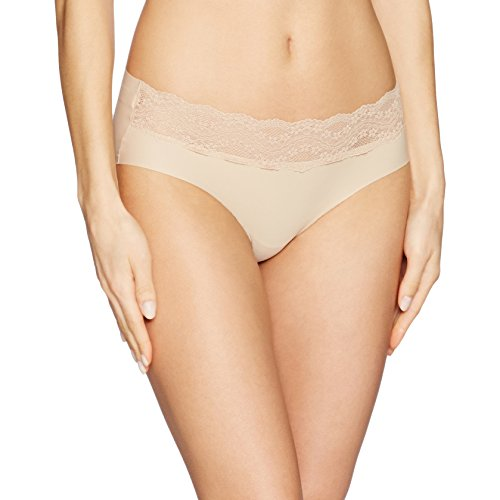 b.tempt'd by Wacoal Women's B.Bare Hipster Panty, Au Natural, L