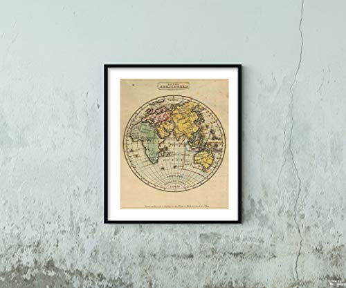 1831 World Atlas Map|Eastern Hemisphere. G. Boynton Sc. Entered by S.G. Goodrich of Massachusetts. Boston: Gray & Bowen 1831|Historic Antique Vintage Reprint|Size: 20x24|Ready to Frame