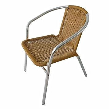 Papillon 8042011 8042011-Silla para terraza, de Aluminio, Miel, 57x55x75 cm