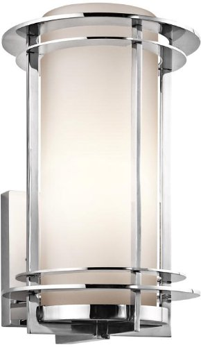 Kichler 49345PSS316 Pacific Edge Outdoor Wall 1-Light, Polished Stainless Steel ()
