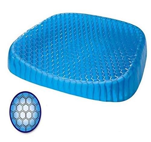 L.HPT Gel Cushion Non-Slip, Breathable Honeycomb Design Absorbs Pressure Points Seat Cushion Support Cushion 45355cm -