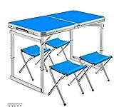 Baianju Portable Portable Folding Table Aluminum Folding Table Desktop Floor Table Outdoor Picnic Table Table