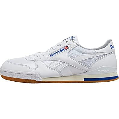 cfe9e6621d79 Mens Reebok Phase 1 Pro Vintage Trainers White Royal Grey Guys Gents ...