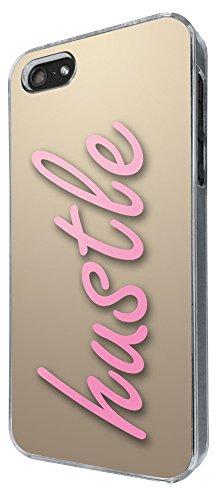 301 - Shabby Chic Hustle Design iphone 5 5S Coque Fashion Trend Case Coque Protection Cover plastique et métal