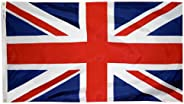 Annin Flagmakers Model 198893 United Kingdom Flag 3x5 ft. Nylon SolarGuard Nyl-Glo 100% Made in USA to Officia