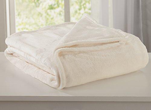 White Velvet Design (Ultra Velvet Plush Fleece All-Season Super Soft Luxury Bed Blanket. Lightweight and Warm for Ultimate Comfort. By Home Fashion Designs Brand. (King, Whisper White))