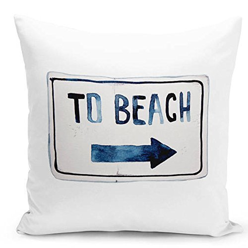 Beach pillowcase, beach lovers summer throw pillow cover, bench cushion decorative pillowcase with words elegant throw pillow case living room home décor
