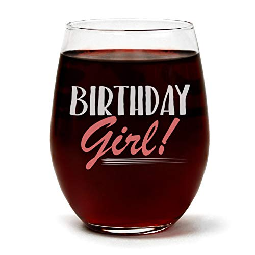 Birthday Girl Wine Glass -