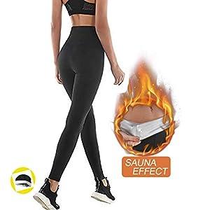 NHEIMA Pantaloni Sauna Dimagranti, Leggings Anticellulite Donna Fitness, Leggings Termici Vita Alta in NANOTECHNOLOGIE per Sudar- Effetto Snellente e Push Up – Ideale per Yoga Corsa Palestra Sport