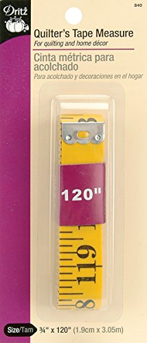 (Dritz 840 Tape Measure, Quilter's, 3/4