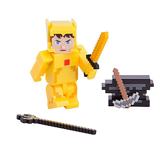 Terraria Gold Armor Player Action Figure with Accessories -