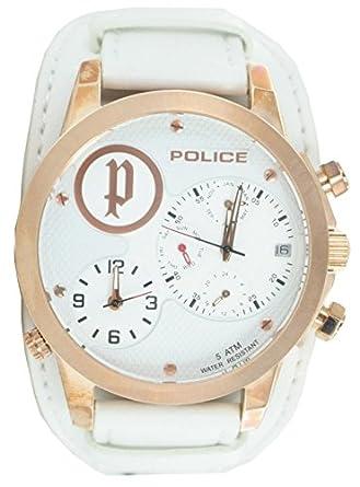 Police Reloj Analógico para Hombre de Cuarzo con Correa en Cuero PL.14188JSR_01: Amazon.es: Relojes