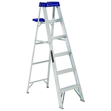 Louisville Ladder AS2106 250-Pound Duty Rating Aluminum Stepladder, 6-Feet