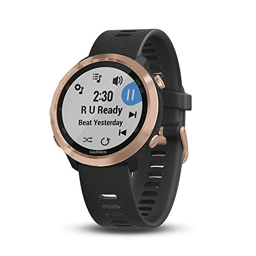 "Garmin 010-01863-23 Forerunner 645 Music GPS Running Watch with Pay Contactless Payments, Wrist-Based Heart Rate and Music, 1.2"", Rose Gold (Renewed)"