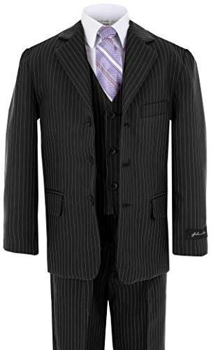 Johnnie Lene Baby Boy's Formal Dress Suit JL5014 (18 Months, Pinstripe - New Pinstripe Suit
