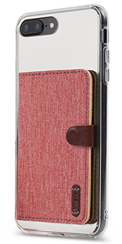 - Ringke Flip Card Holder ID Adhesive 3M [Red] Premium Stick Fashion Multi-Card Slot Wallet Case Credit Card Cash Pouch Attachment Compatible with Most Smartphones, Android and More