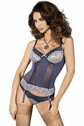 'corset Passion String kleine sachen Dessous Femme Avec Bleue Corset Chemise Fleur 1001 Straps qSwCTT