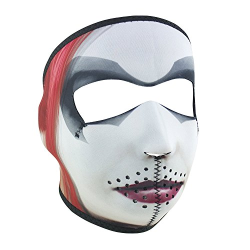Dr. Q Creepy Pasty Dead Goth Face Reversible to Black Neoprene Full Face Mask by Zanheadgear