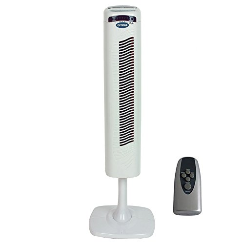 40'' Pedestal Tower Fan with Remote Control & LED by Optimus