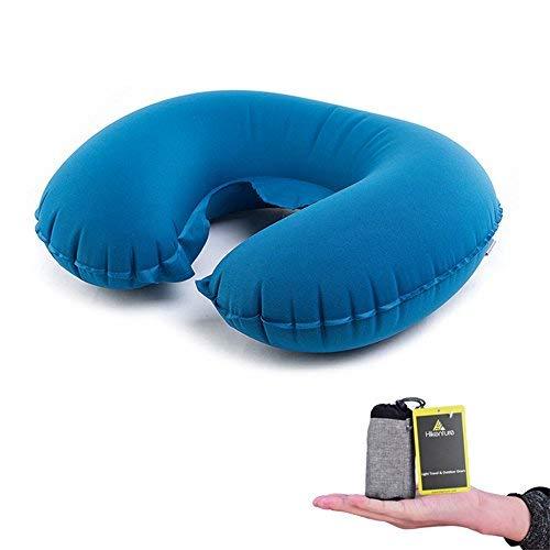 Hikenture Inflatable Neck Pillow by Lightweight Travel Pillow- Portable U...